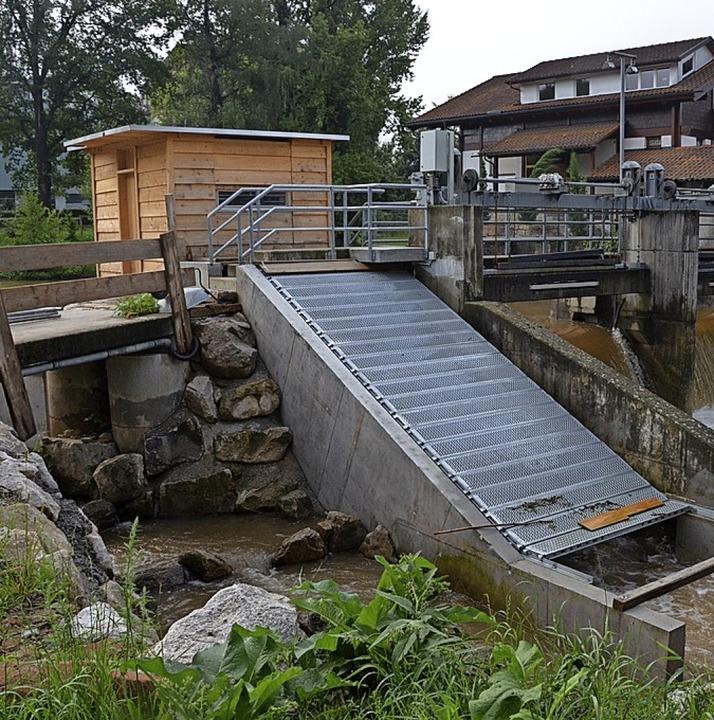 Wasserturbine im Vollrath'schen Park.     Foto: Gerhard Walser