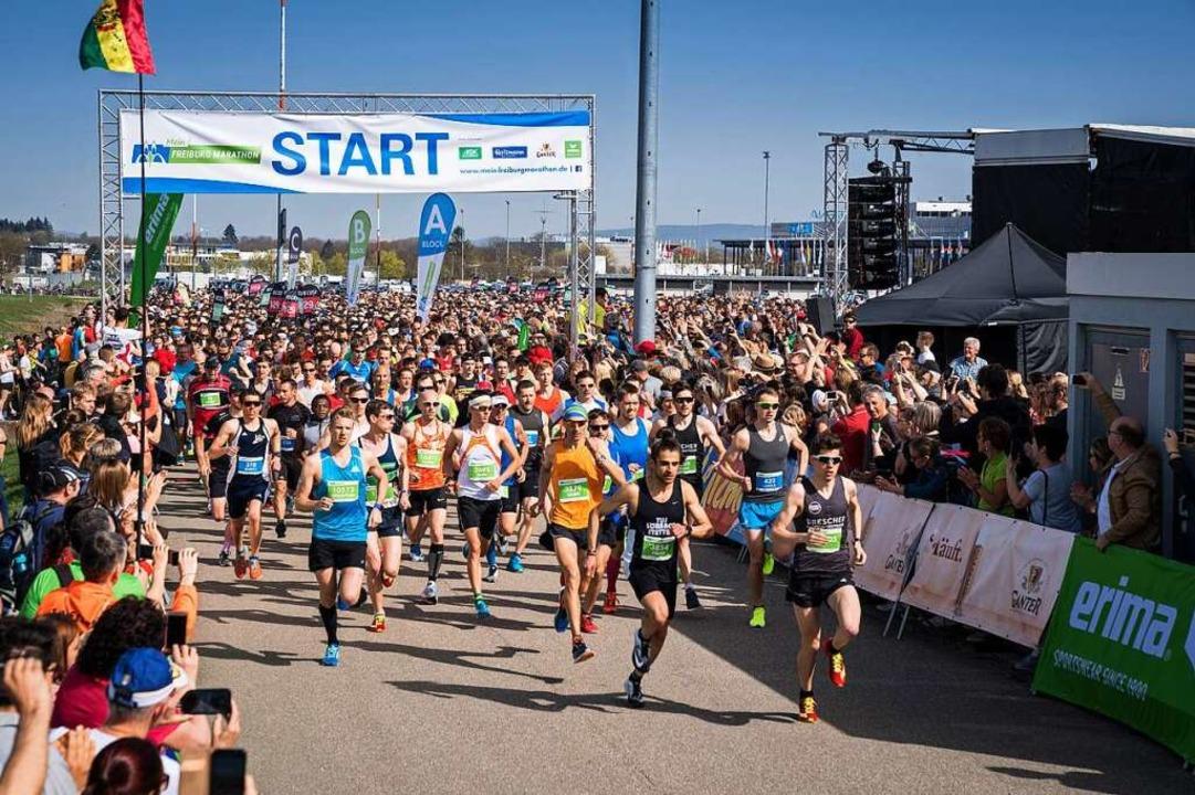 Kein Massenstart am 29. März an der Me...er 17. Freiburg Marathon ist abgesagt.  | Foto: FWTM / Baschi Bender