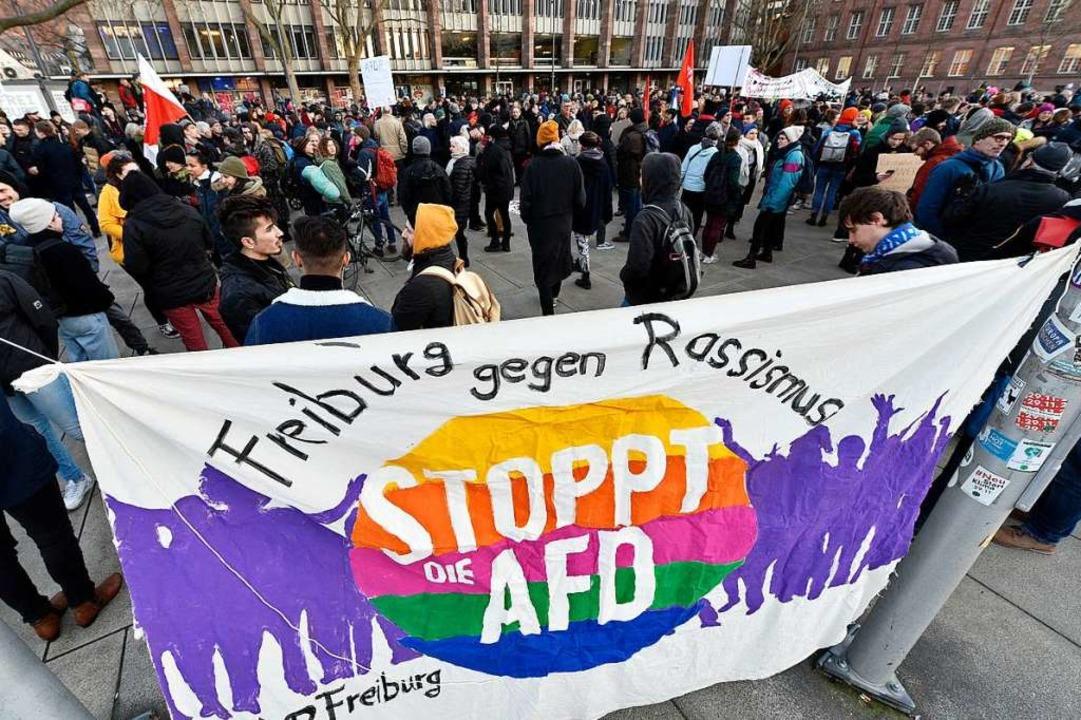 Antifaschistische Gruppen wollen die D...Gegenprotesten begleiten (Archivbild).  | Foto: Thomas Kunz