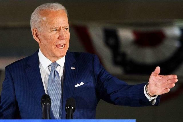 US-Wahlkampf: Joe Biden muss im Angesicht seines Vorsprungs jetzt Brücken bauen