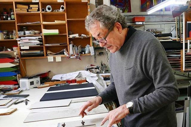 Dieser Lörracher Buchbinder arbeitet für weltberühmte Museen