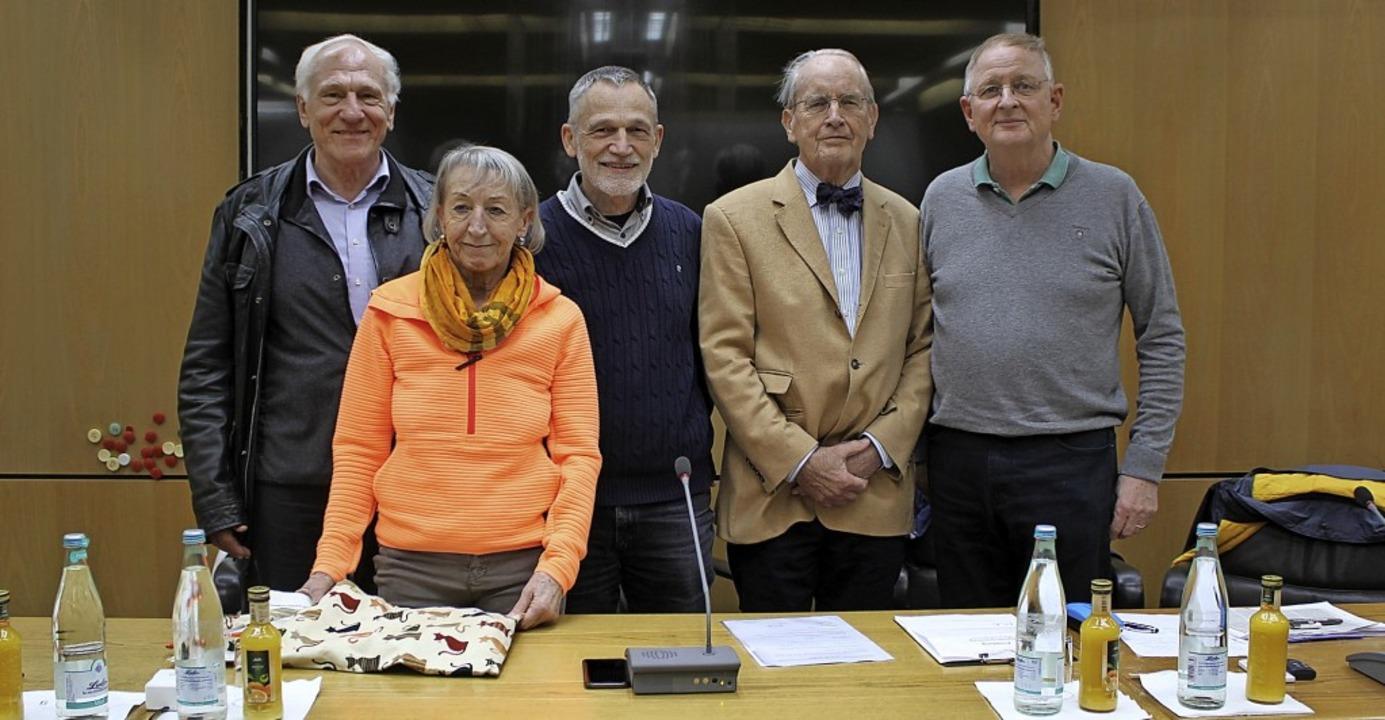 Mitglieder des Vorstands (von links): ... Reiner Haag (neuer Vize-Vorsitzender)  | Foto: Gerd Lustig