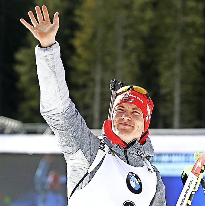 Biathlet Benedikt Doll war als Sechster beim Sprint  bester Deutscher  | Foto: Darko Bandic (dpa)