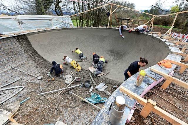 Im Dietenbachpark entsteht der Backyard Pool für Freiburgs Skater