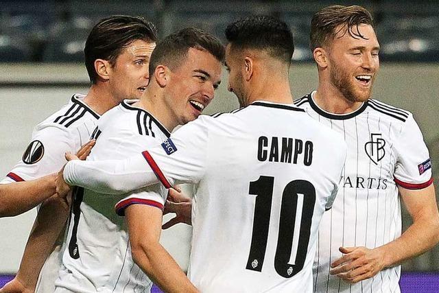 FC Basel gewinnt im leeren Frankfurter Stadion mit 3:0