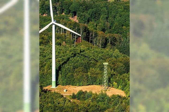 Fünf alte Windkrafträder im Schnürbuck werden durch drei neue ersetzt