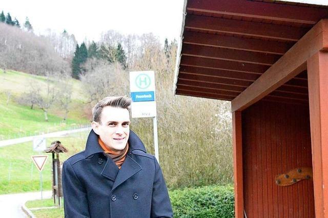 Kandidatenrundgang: Florian Zöbelin will einen Bürgerbus für die Ortsteile