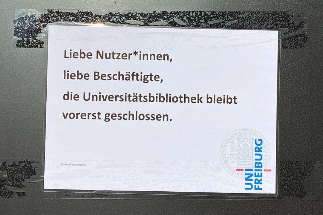 Die UB Freiburg bleibt bis auf Weiteres geschlossen.  | Foto: Anika Maldacker
