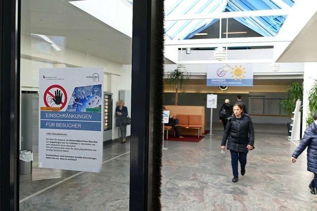 Für die Lörracher Kreiskliniken gilt ein fast vollständiges Besuchsverbot