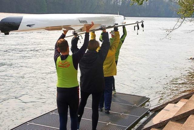 Die Rheinfelder Sportler werden im kleinen Kreis geehrt