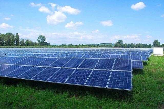Solarpark an der A 98 bei Eimeldingen soll Strom für 250 Haushalte liefern