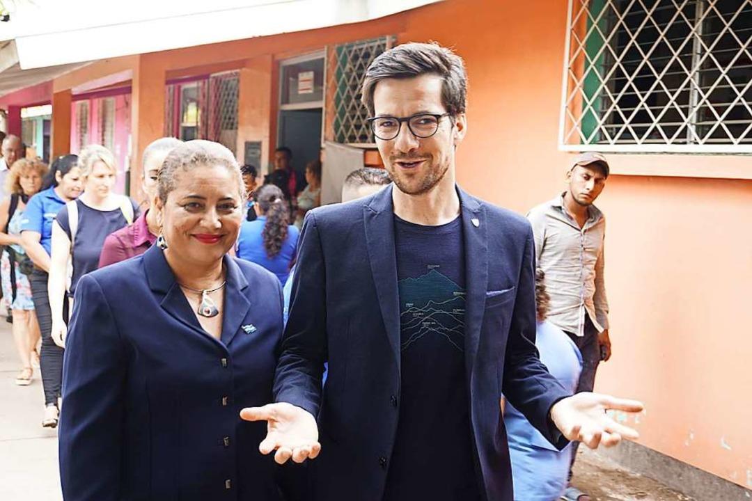 Oberbürgermeister Martin Horn und sein...gin  Reyna Esmeralda Hernandez Mairena  | Foto: Manuel Fritsch