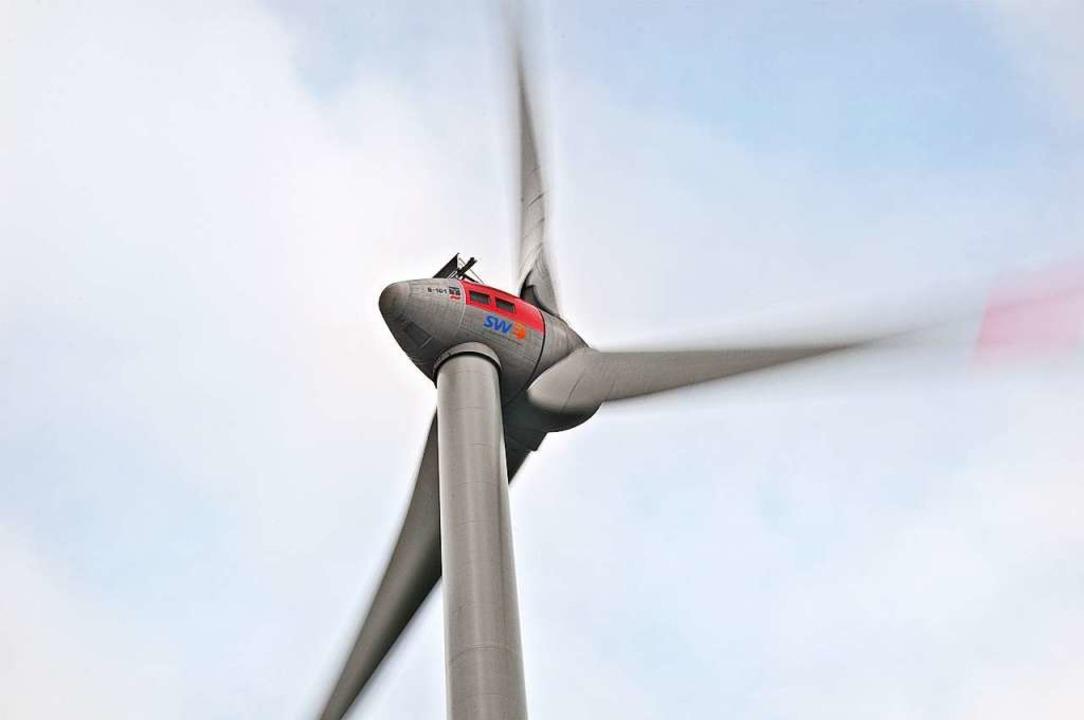 SWE-Windkraftanlage auf dem Weißmoos  | Foto: Stadtwerke Emmendingen