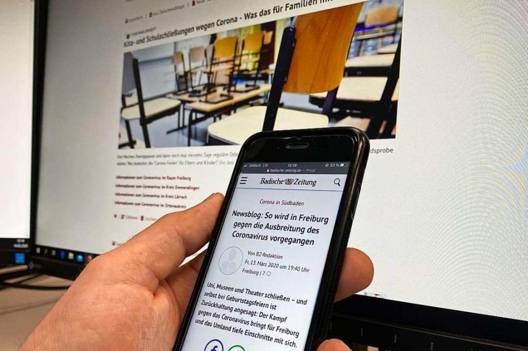 Die BZ bietet ihre Corona-Newsblogs für alle Leserinnen und Leser gratis an.  | Foto: BZ