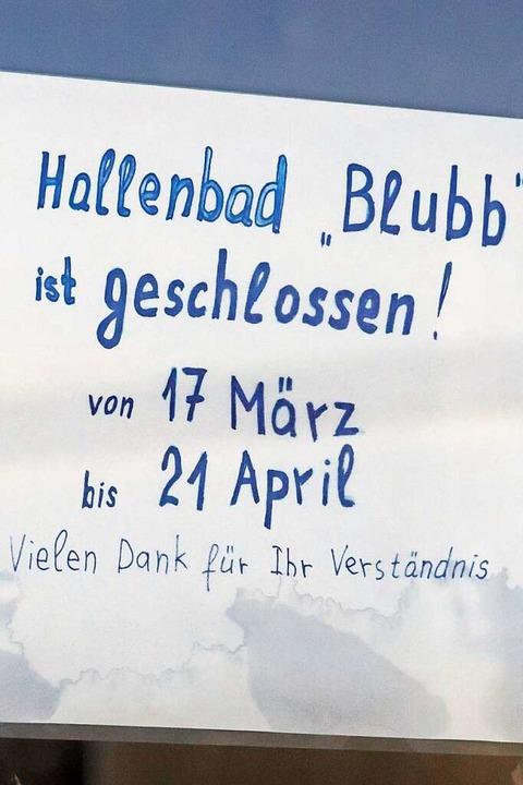 Auch das Hallenbad in Grafenhausen ist...n. Warum bleibt hier allerdings offen.  | Foto: Wilfried Dieckmann
