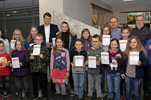 Junge Sportler in Badenweiler geehrt