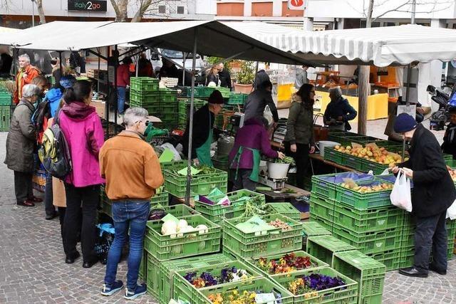 Corona-Krise macht sich auch auf dem Lörracher Wochenmarkt bemerkbar