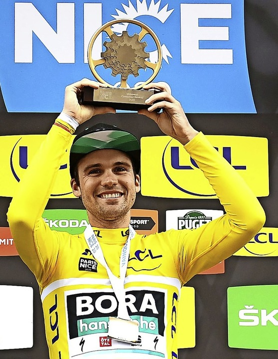 Glücklicher Sieger: Maximilian Schachmann  | Foto: ALAIN JOCARD (AFP)