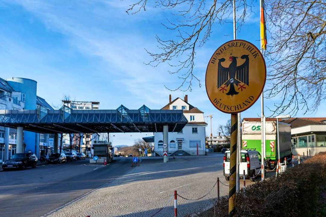 Grenzübergang zu Lörrach  | Foto: Georgios Kefalas (dpa)