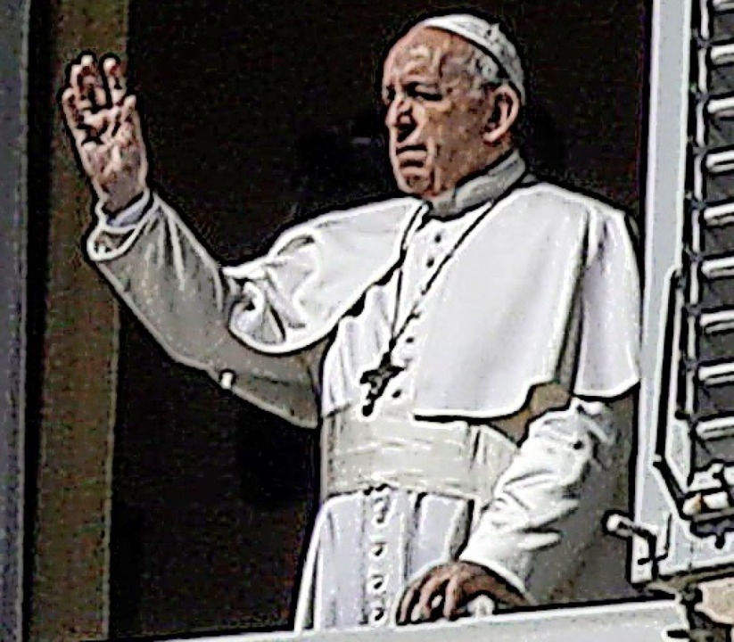 Papst Franziskus am  Petersplatz    Foto: Alessandra Tarantino (dpa)