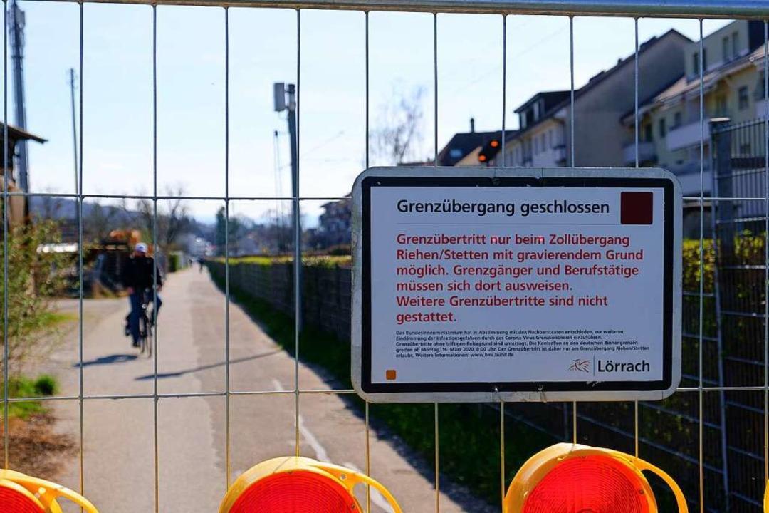 Die Radwege über die Grenze sind dicht.  | Foto: Ansgar Taschinski