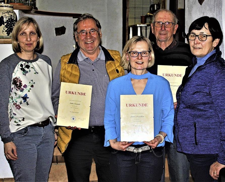 Die stellvertretende Vorsitzende des T... Jutta Schmidlin und Hubert Burkhardt.  | Foto: Laetitia Barnick