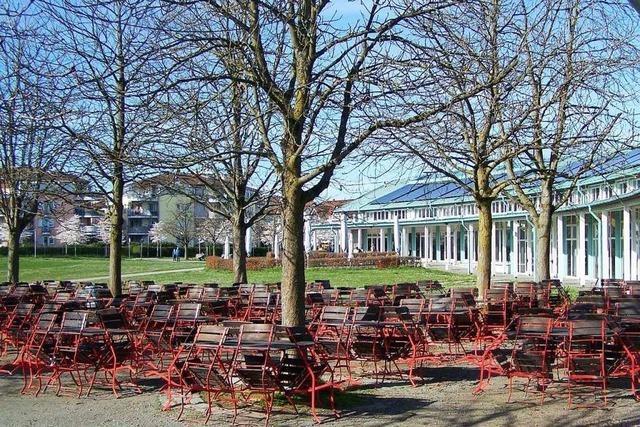 Freie Platzwahl im Biergarten am Seepark