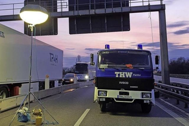 THW Müllheim unterstützt die Bundespolizei
