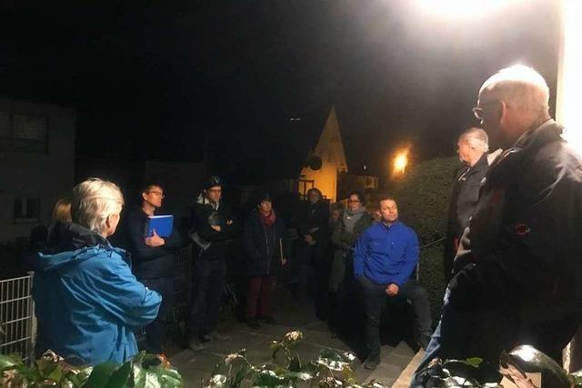 Ortschaftsrat Hochdorf tagte zum letzten Mal unter freiem Himmel