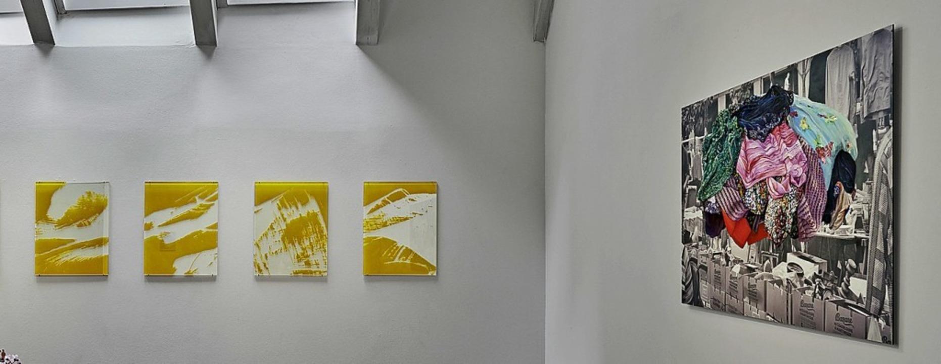Blick in die Ausstellung bei Ulrike Claeys   | Foto: bernhard Strauss