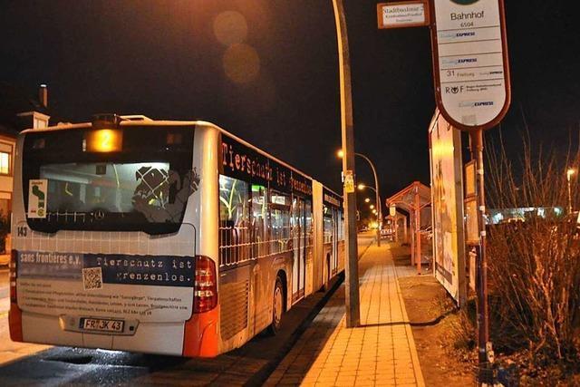 Die Nachtbusse am Wochenende fahren bis auf weiteres nicht