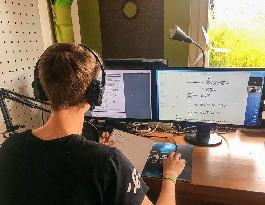 Schule geht auch ohne Schulhaus: Zu se...aldkirch in Informatik schreiben wird.  | Foto: Privat