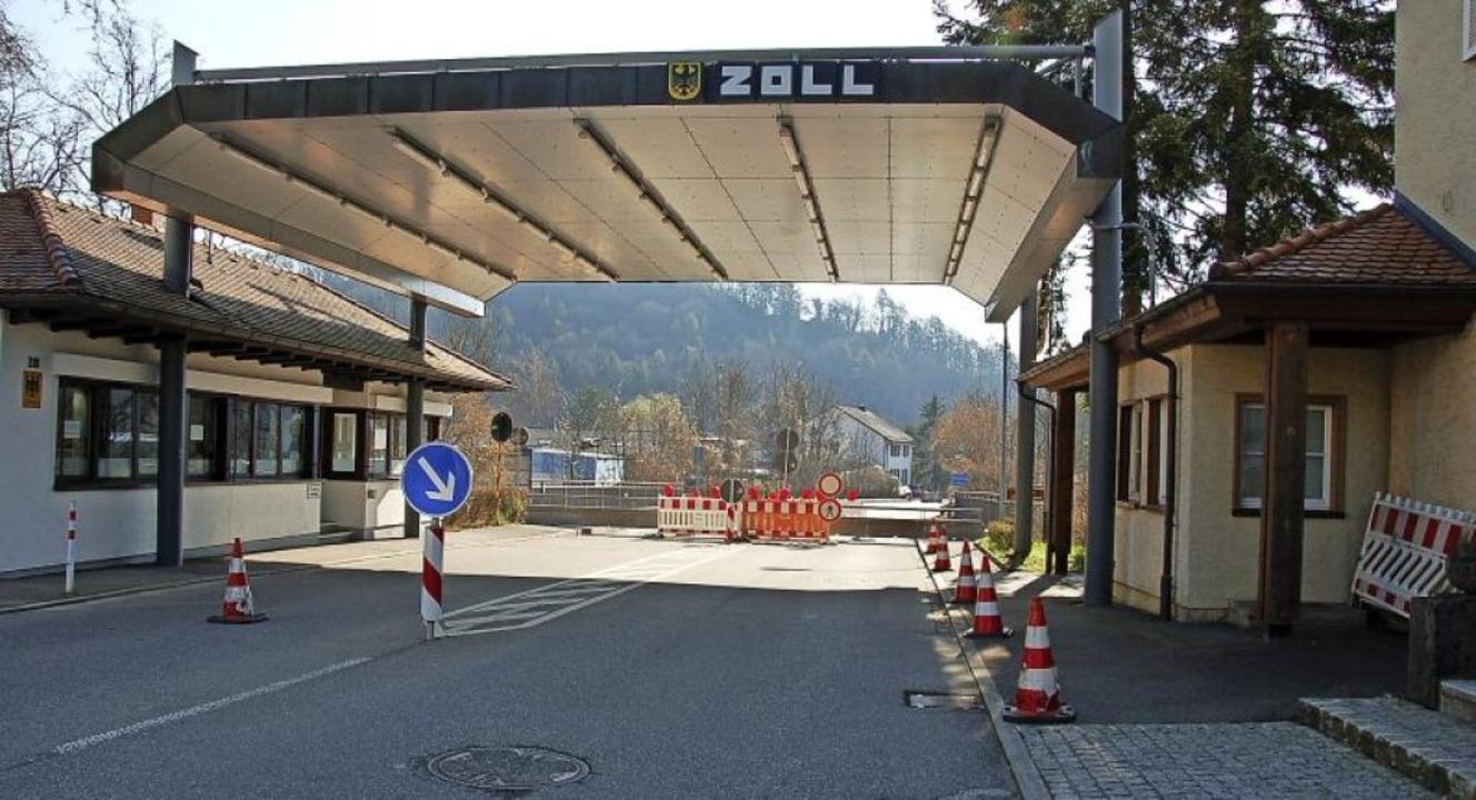 Nichts geht mehr: Der Grenzübergang in... nicht in Erfahrung gebracht werden.    | Foto: Jutta Binner-Schwarz