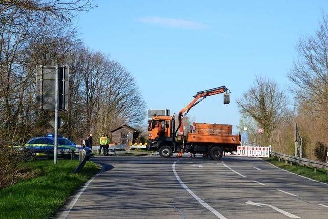 Grenzübergang zwischen Sasbach und Marckolsheim ist geschlossen