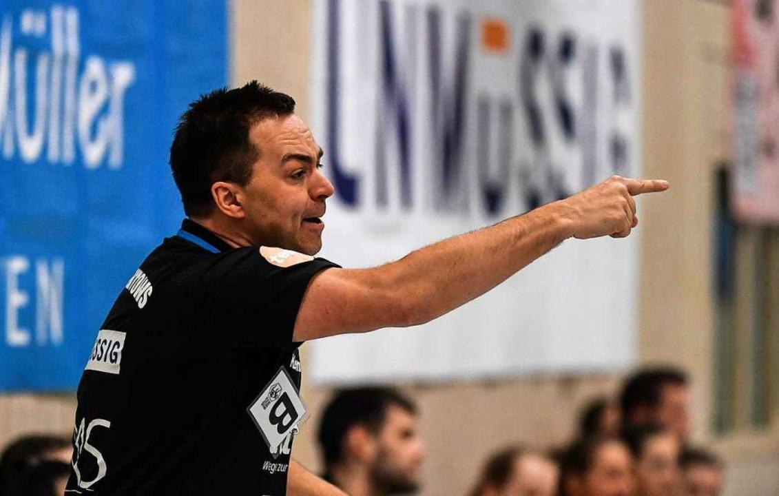 Kann weiter in der zweiten Liga die Ri...orgeben: HSG-Trainer Ralf Wiggenhauser  | Foto: Patrick Seeger