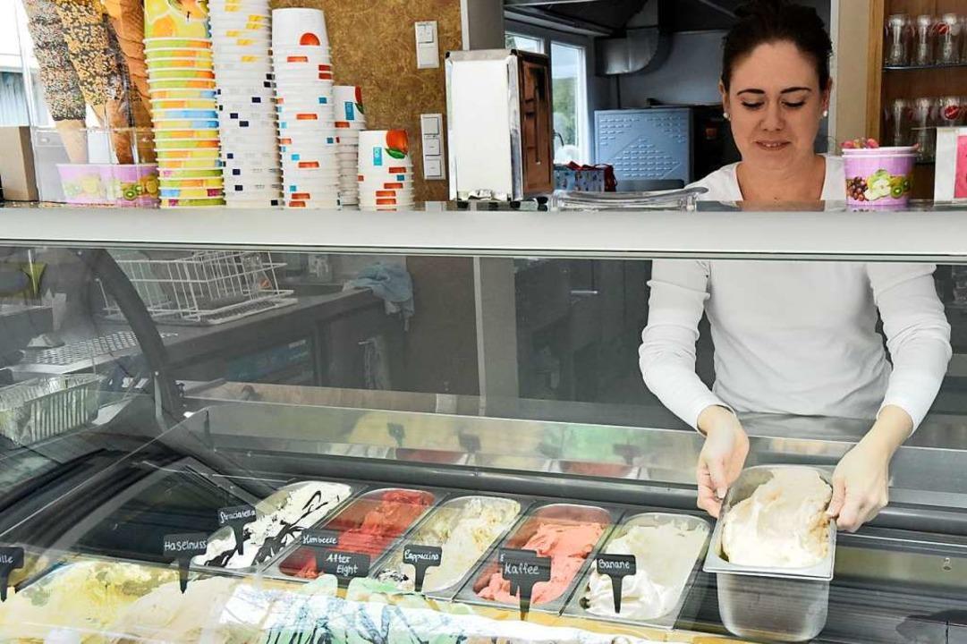 Erst im Januar hatte Vivien Wittmann die Eisdiele in Glottertal übernommen.    Foto: Markus Zimmermann