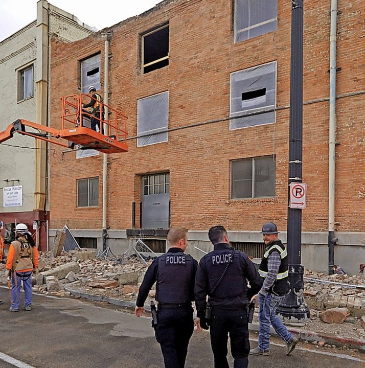 Schäden im Zentrum Salt Lake Citys  | Foto: Rick Bowmer (dpa)