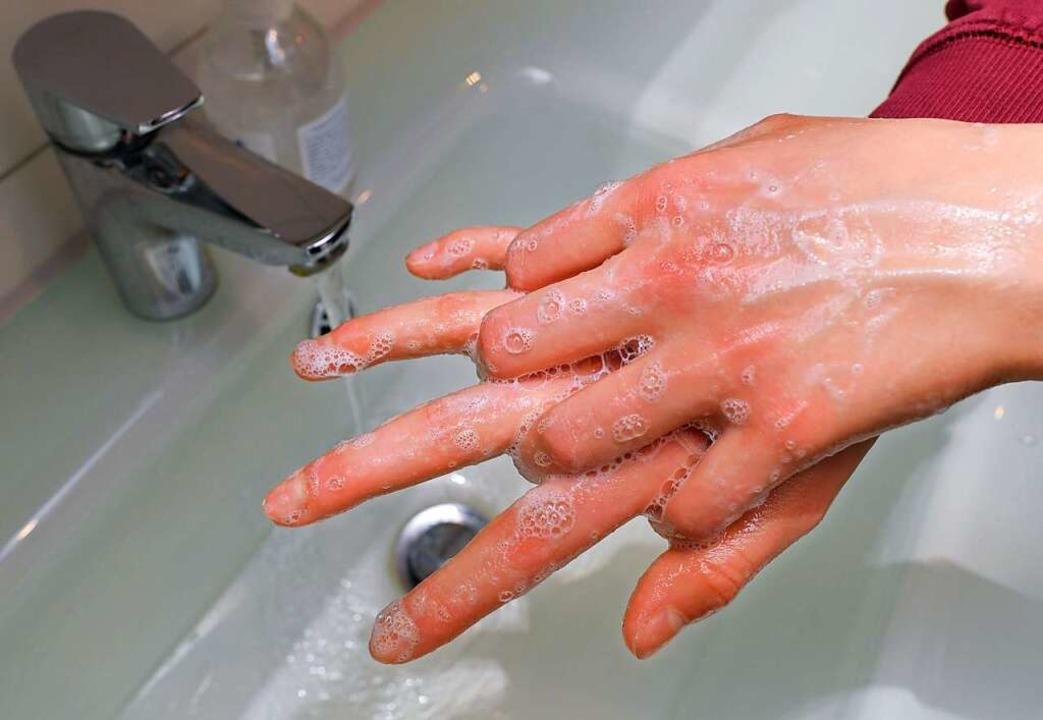 Händewaschen ist wichtig.    Foto: Patrick Pleul (dpa)