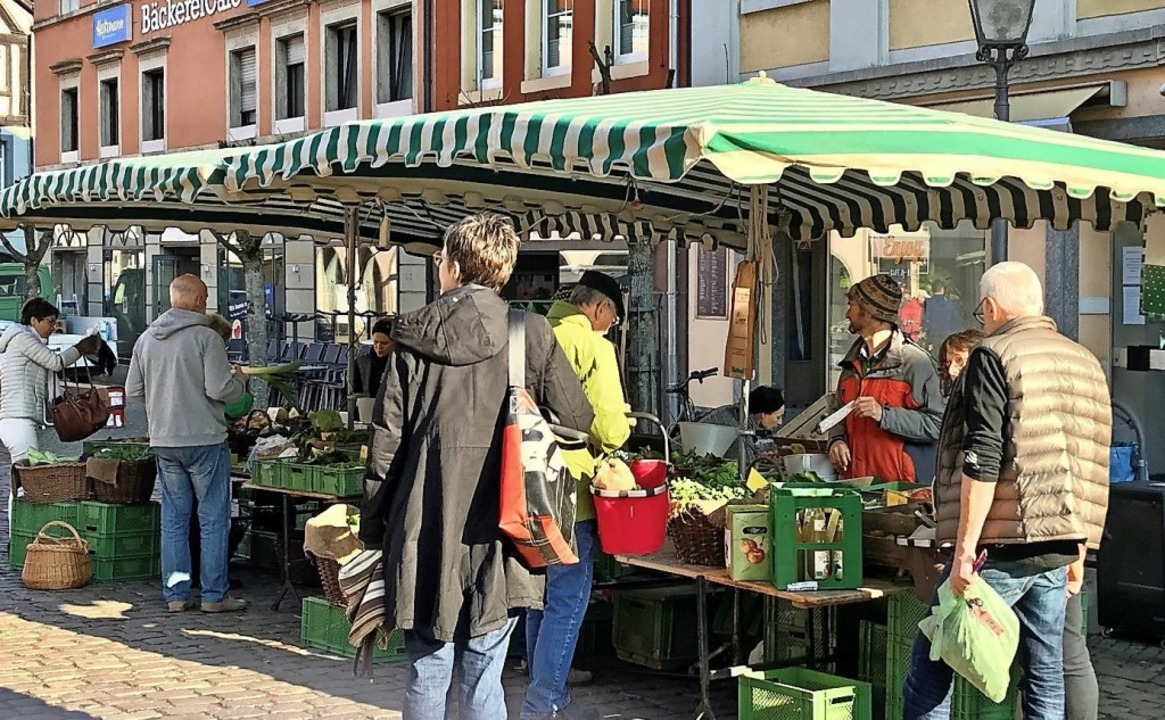 Die Wochenmärkte haben weiterhin geöff...wirtschaft in der jetzigen Situation.   | Foto: Werbegemeinschaft