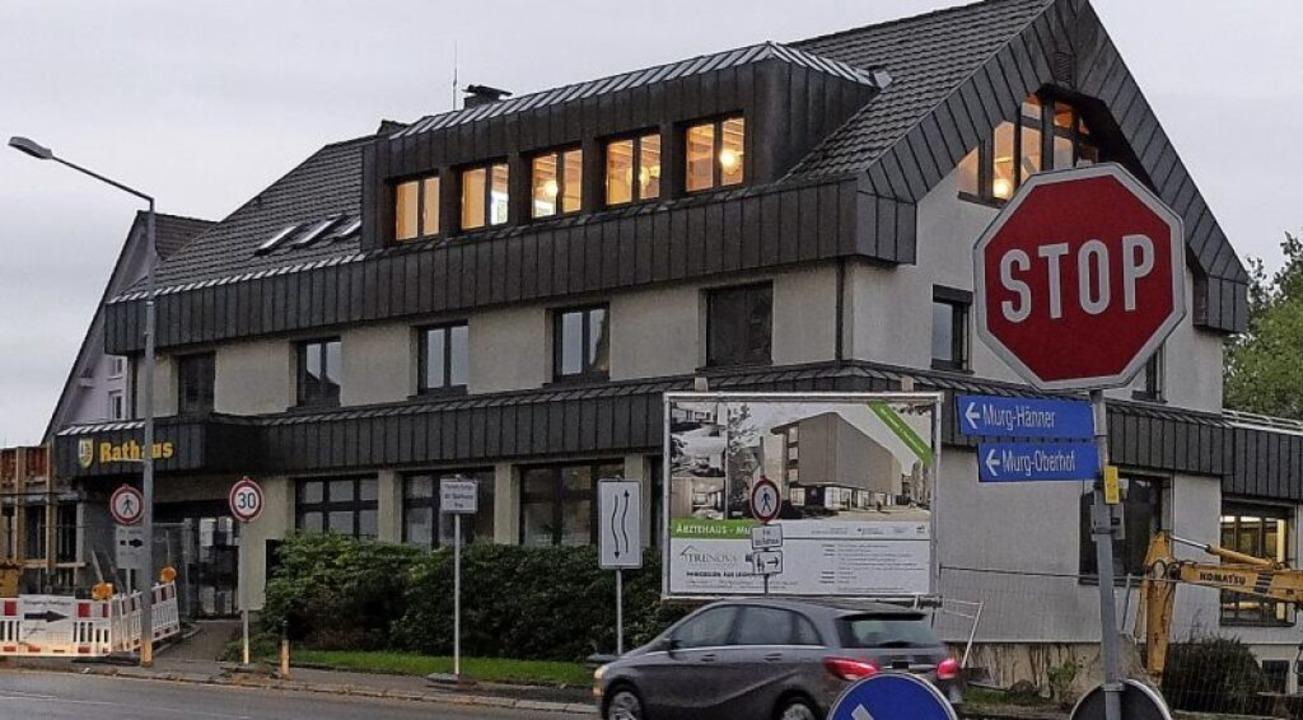 Sicherheitsabstand gilt auch im Murger Rathaus  | Foto: Thomas Winckelmann