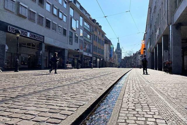 Stadt Freiburg stellt die Bächle ab sofort wegen der Coronakrise ab