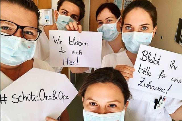 Uniklinik-Mitarbeiter starten Aufruf in den sozialen Medien, daheim zu bleiben