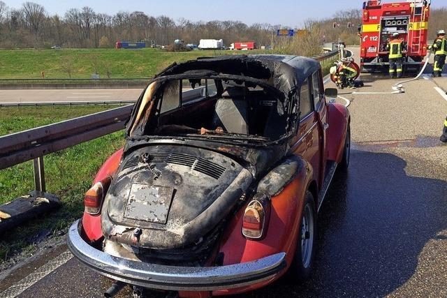 Oldie-Probefahrt endet mit Brand