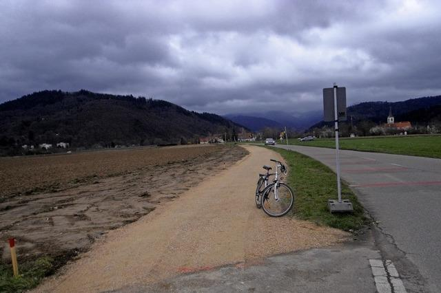 Radweg fertiggestellt