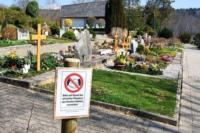 In Steinen und Lörrach gibt es nur noch Beerdigungen im engsten Familienkreis
