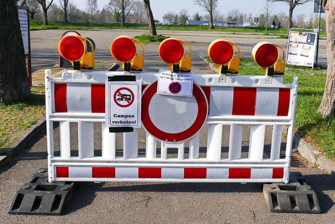 Um die Ausbreitung der Corona-Viren ei...am Rhein bis auf Weiteres geschlossen.  | Foto: Gerold Zink