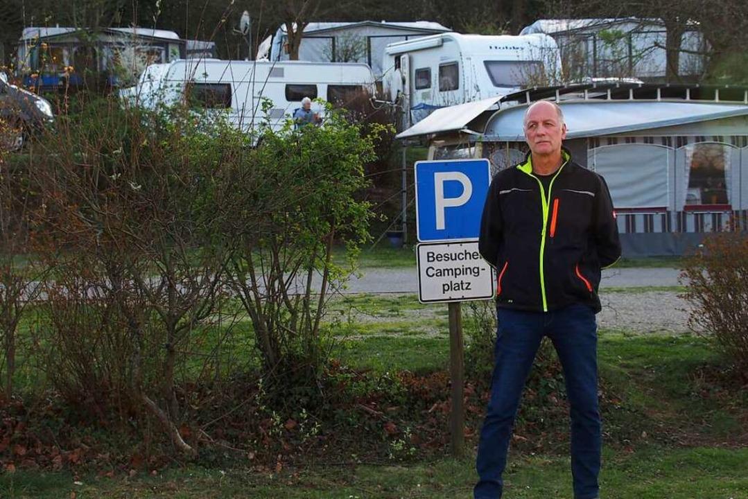 Campingplalzbetreiber Roland Grommek b...wird in wenigen Tagen leergefegt sein.  | Foto: Markus Donner