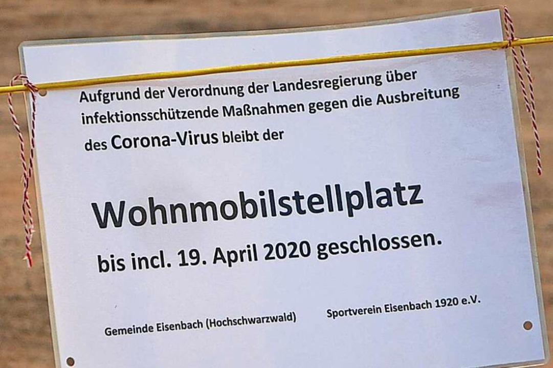 Auch hier ist dicht – Stellplatz in Eisenbach.  | Foto: Peter Stellmach