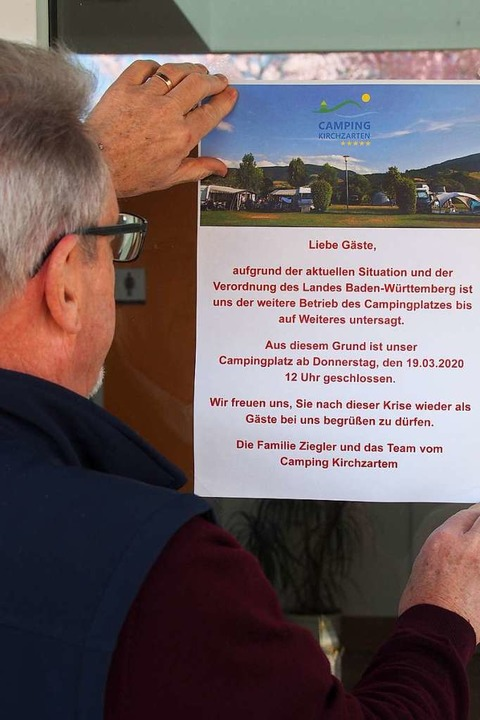 Platz geschlossen, Campen verboten – Szenen von Campingplätzen der Region.  | Foto: Markus Donner