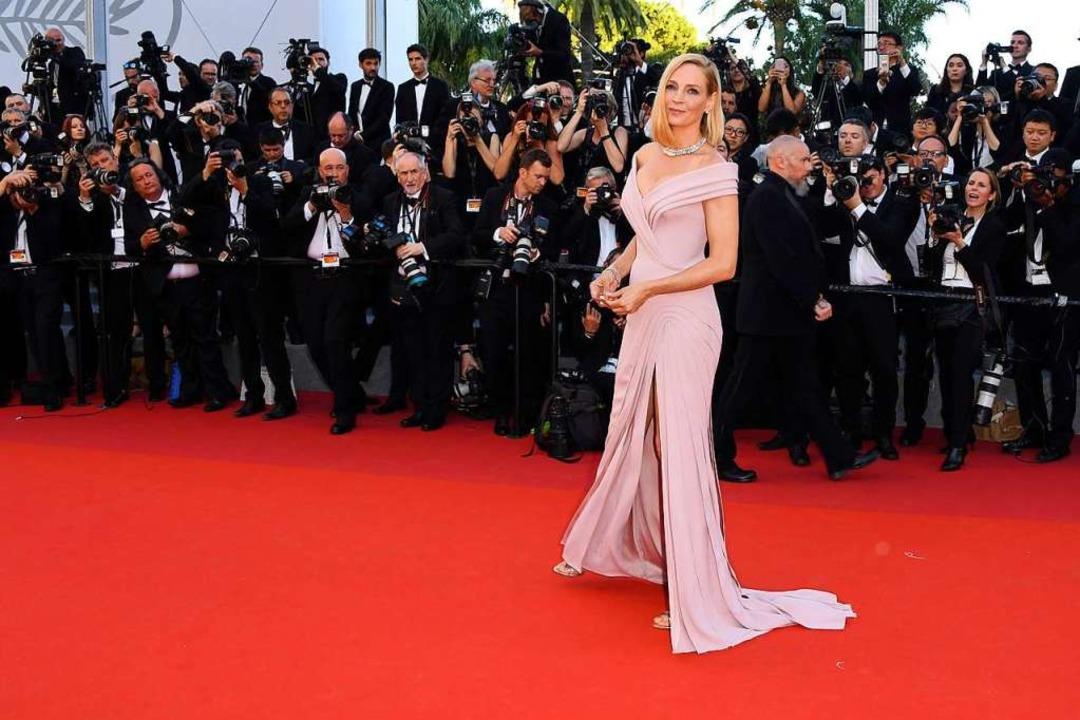 Schauspielerin Uma Thurman bei der Erö... Filmfestspiele in Cannes im Jahr 2017  | Foto: Arthur Mola